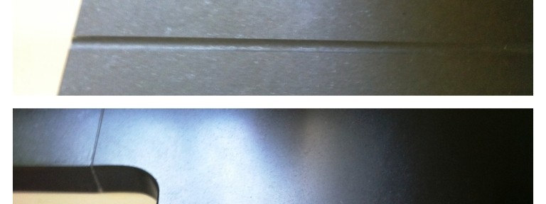 Granite Worktop before and after cleaning and sealing