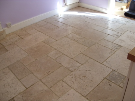 Limestone Floor - After Restoration