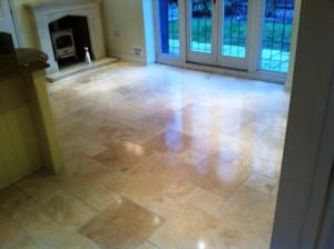 Limestone Floor After Restoration