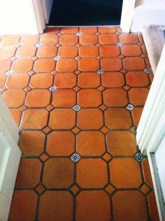 Mexican Terracotta After Six Coats of Tile Doctor Seal and Go