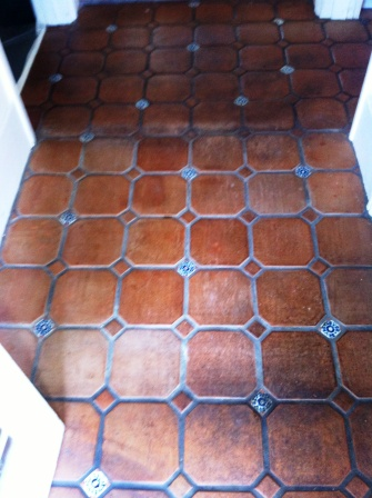 Mexican Terracotta Before Sealing with Tile Doctor Seal and Go