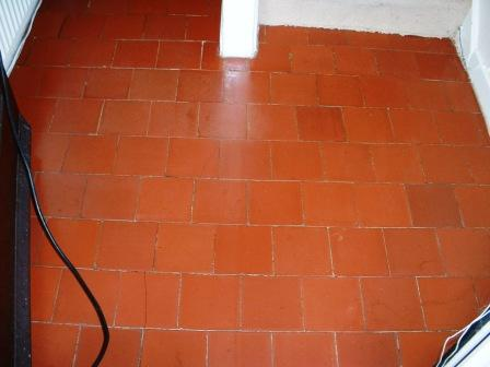 Quarry Tile Floor Rugby - After Restoration