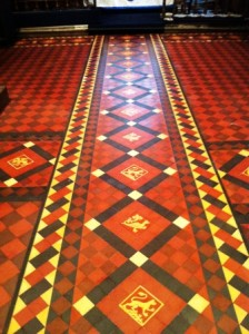 Victorian Tiled Church Floor after Tile Cleaning and Sealing