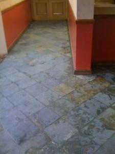 Slate Floor Before Tile Cleaning