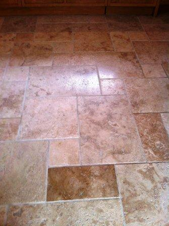 Travertine Floor After Restoration