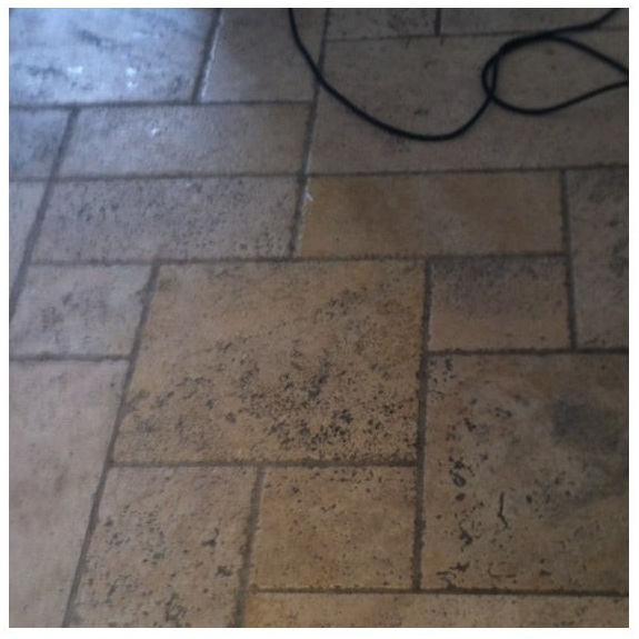 Travertine Floor in Stratford-upon-avon Before Cleaning