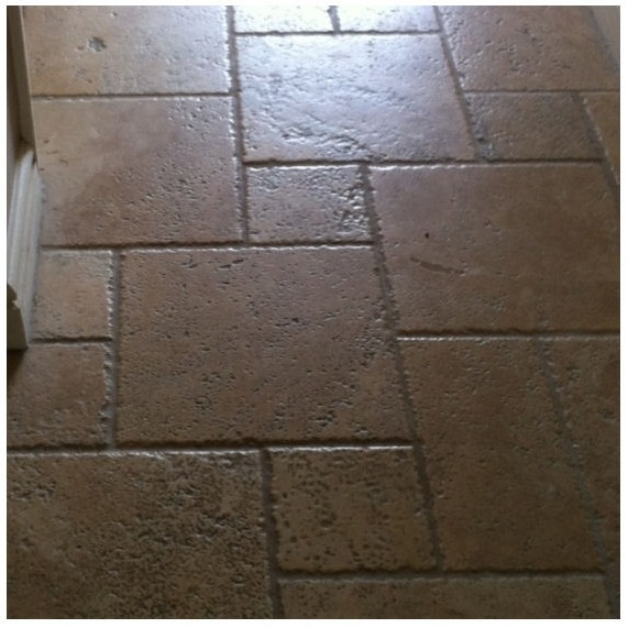 Travertine Tiles Before Cleaning