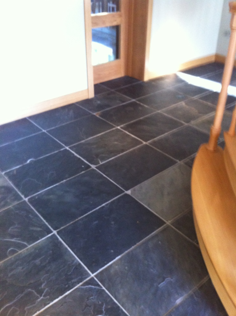 Removing Grout Haze From Slate Tile Flooring Warwickshire Tile Doctor