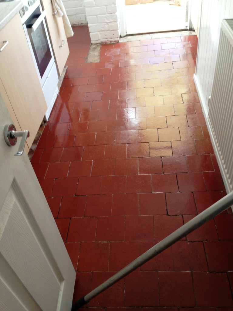 Kitchen Quarry Tile Restoration in Coundon, Coventry