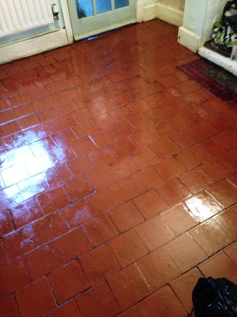 Quarry Tile Floor After Restoration