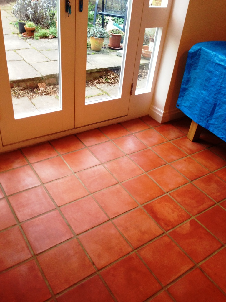 Removing Linseed Oil from Terracotta in Leamington Spa