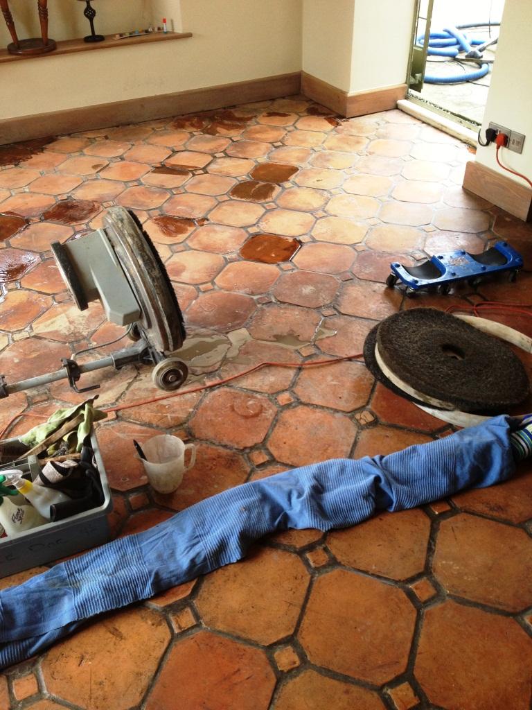 Paxford Terracotta Floor Before