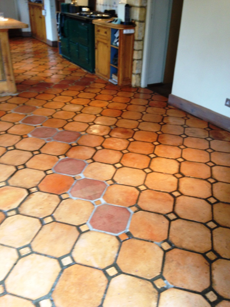 Paxford Terracotta Floor after cleaning