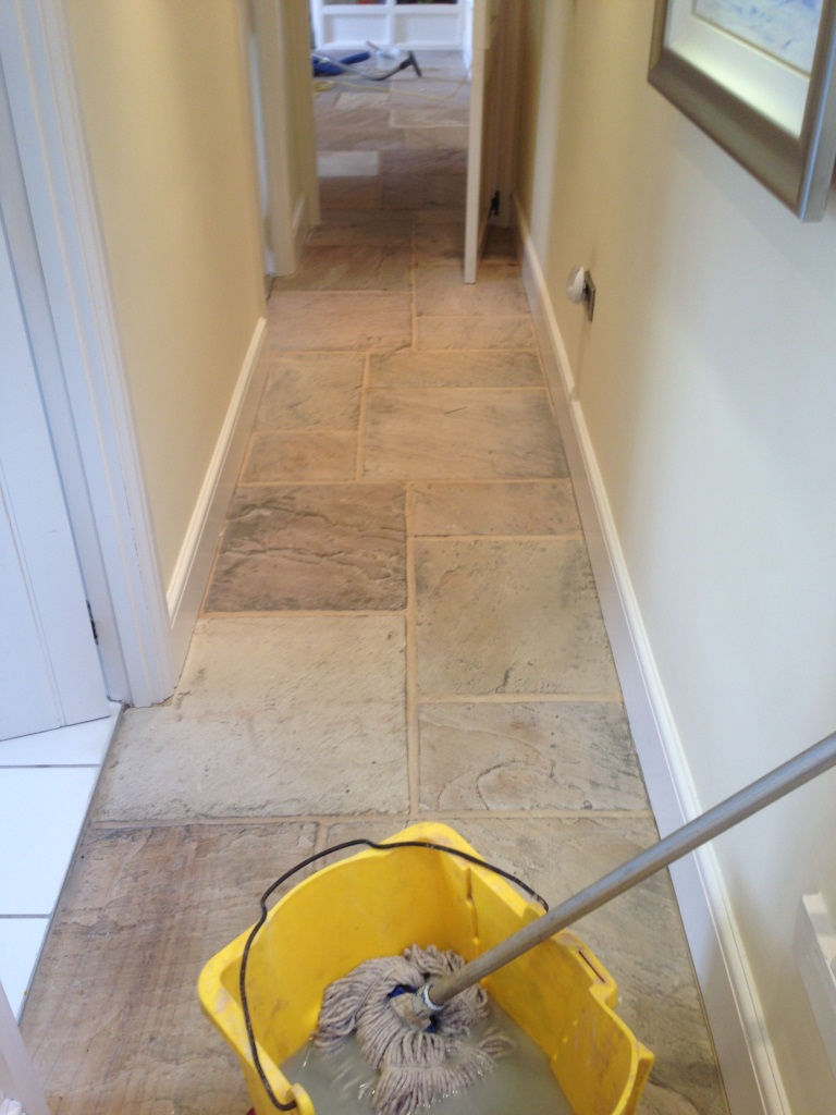 Sandstone Flagstone Cleaning