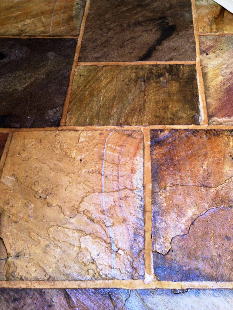 Sandstone Flagstones After Sealing Close-Up
