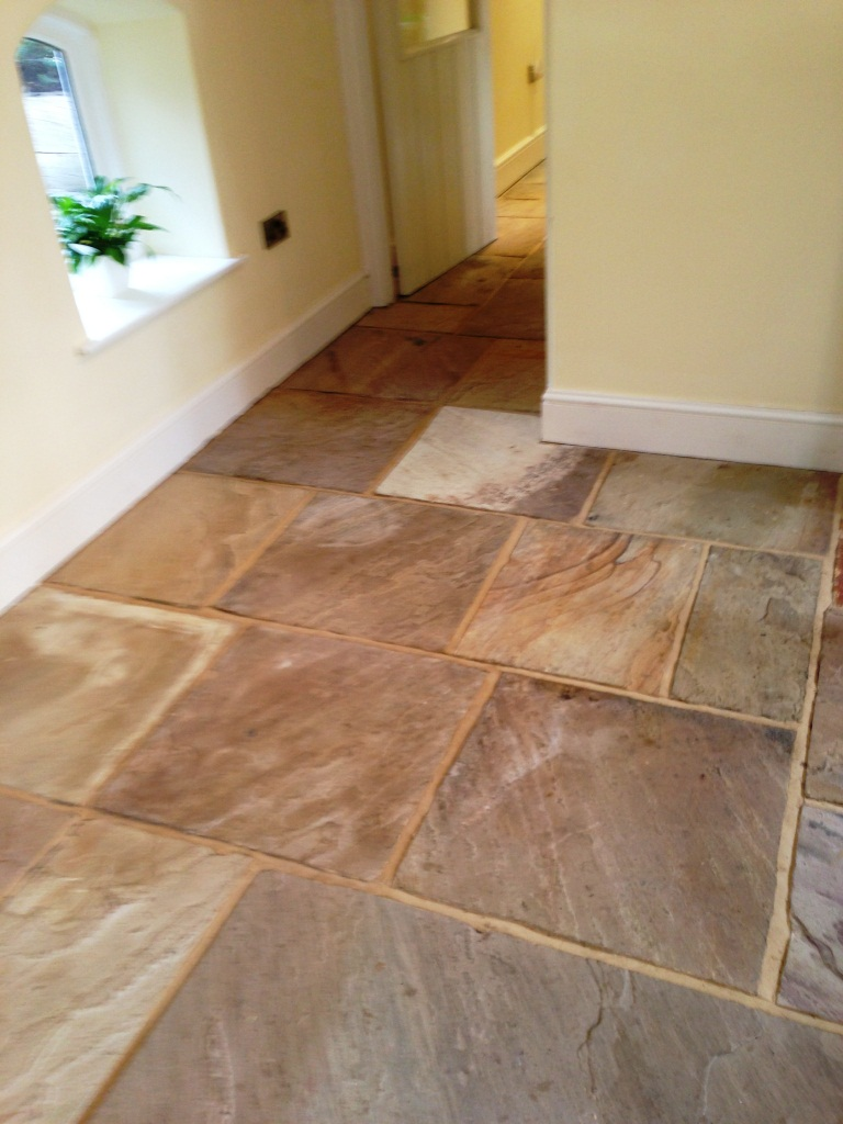 Sandstone Flagstones Before Sealing
