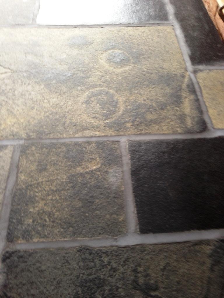 Slate Floor Restoration Before