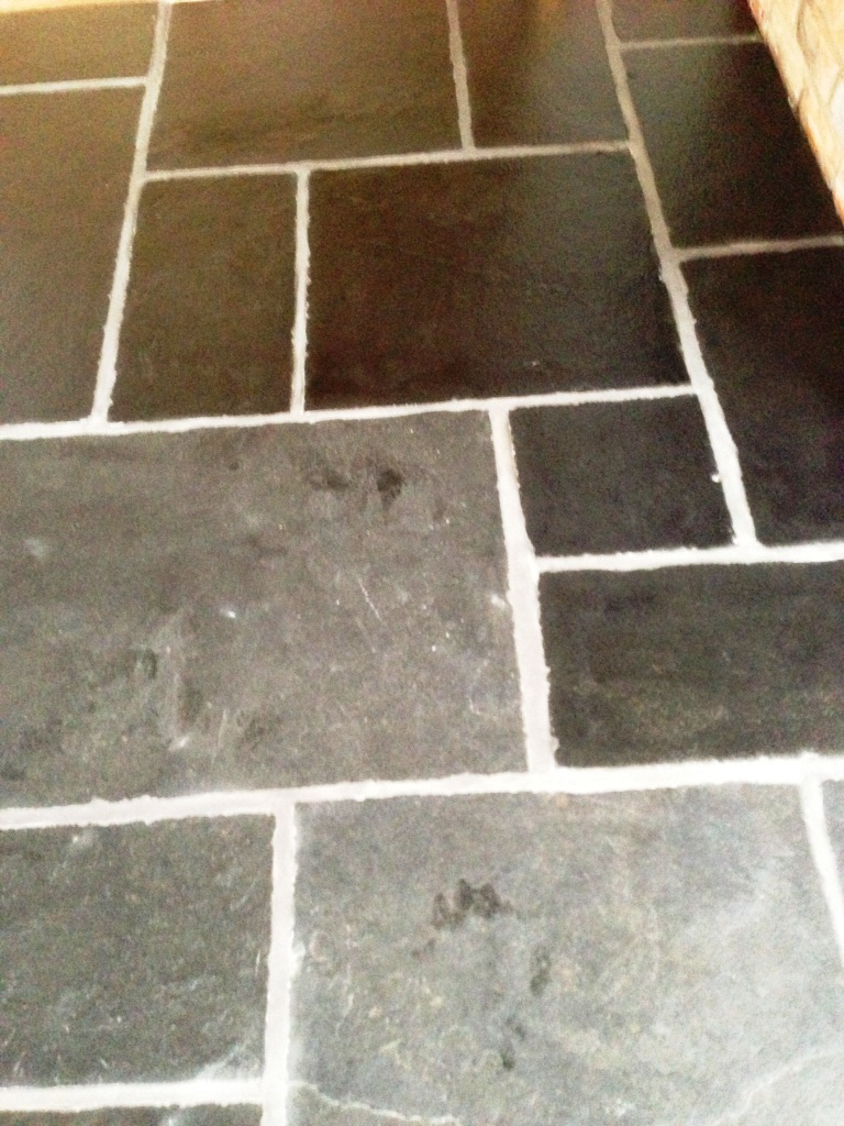 Slate Floor Restoration Cleaned