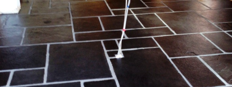 Restoring a Kitchen Slate floor in Royal Leamington Spa