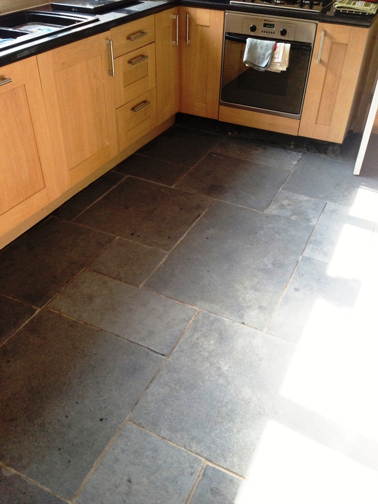 Limestone Kitchen Floor After Cleaning