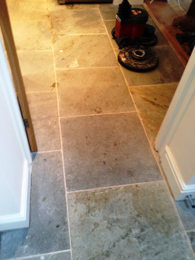 Slate Tiles Before Cleaning in Broadwell2
