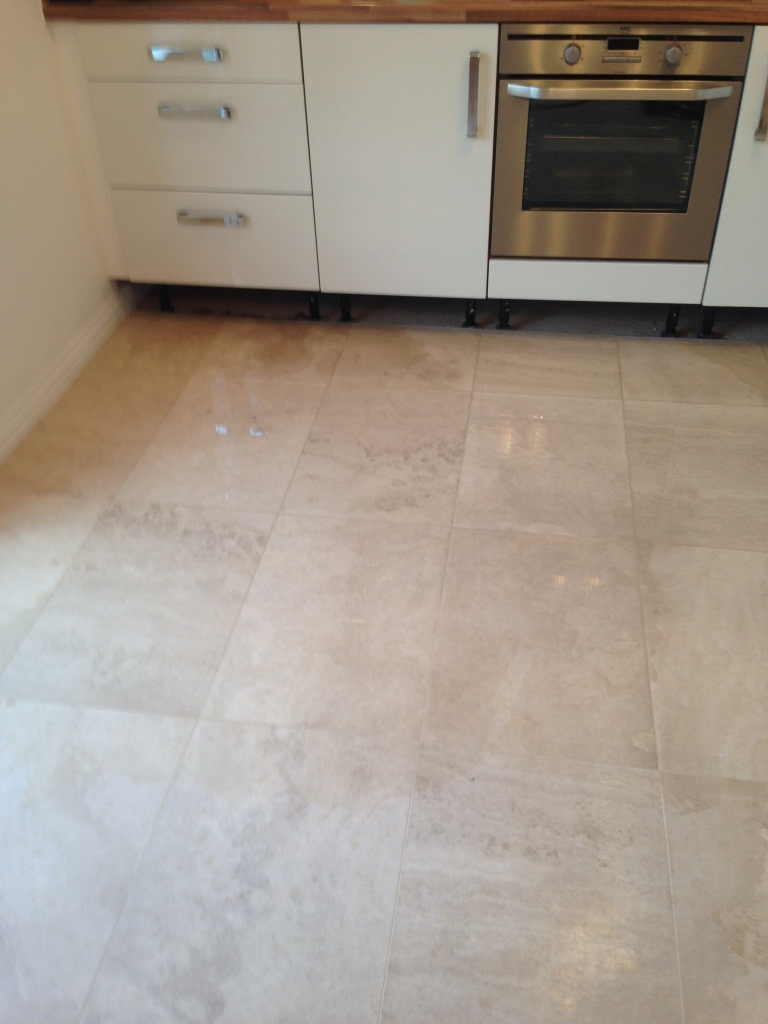Limstone Tiled Floor Before cleaning