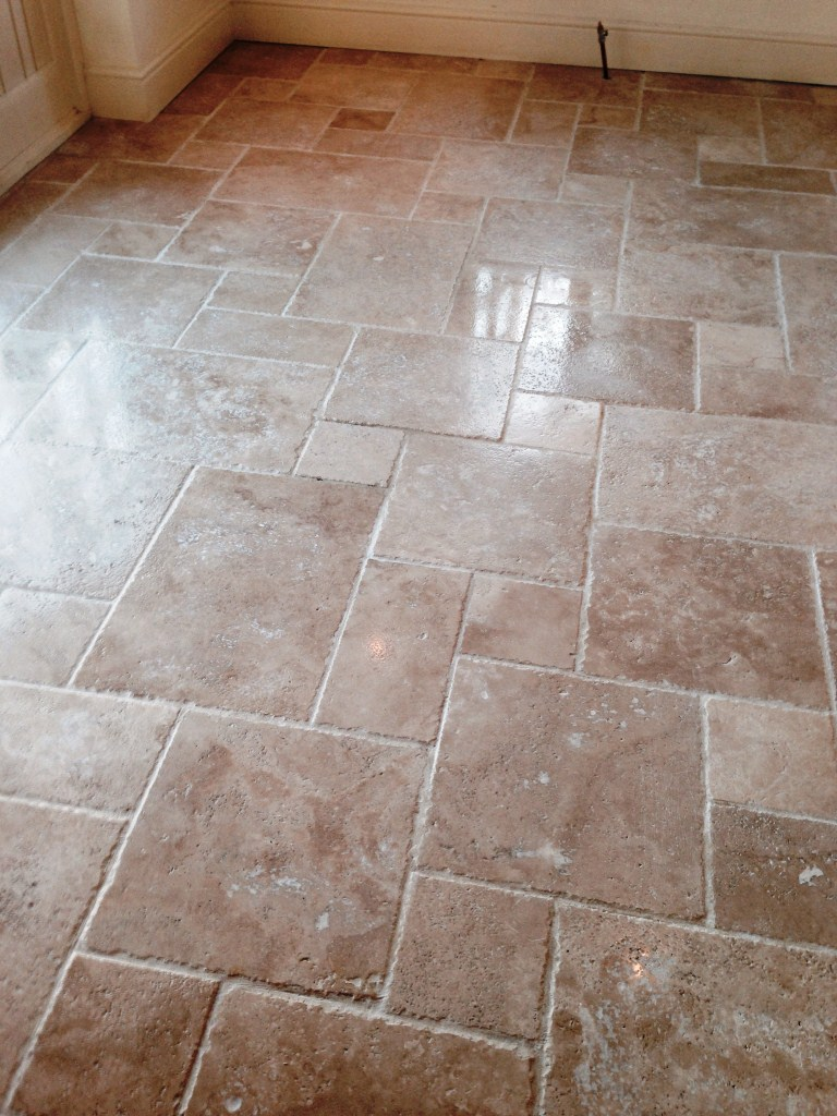 Travertine Tiled Floor Polished in Stratford upon Avon