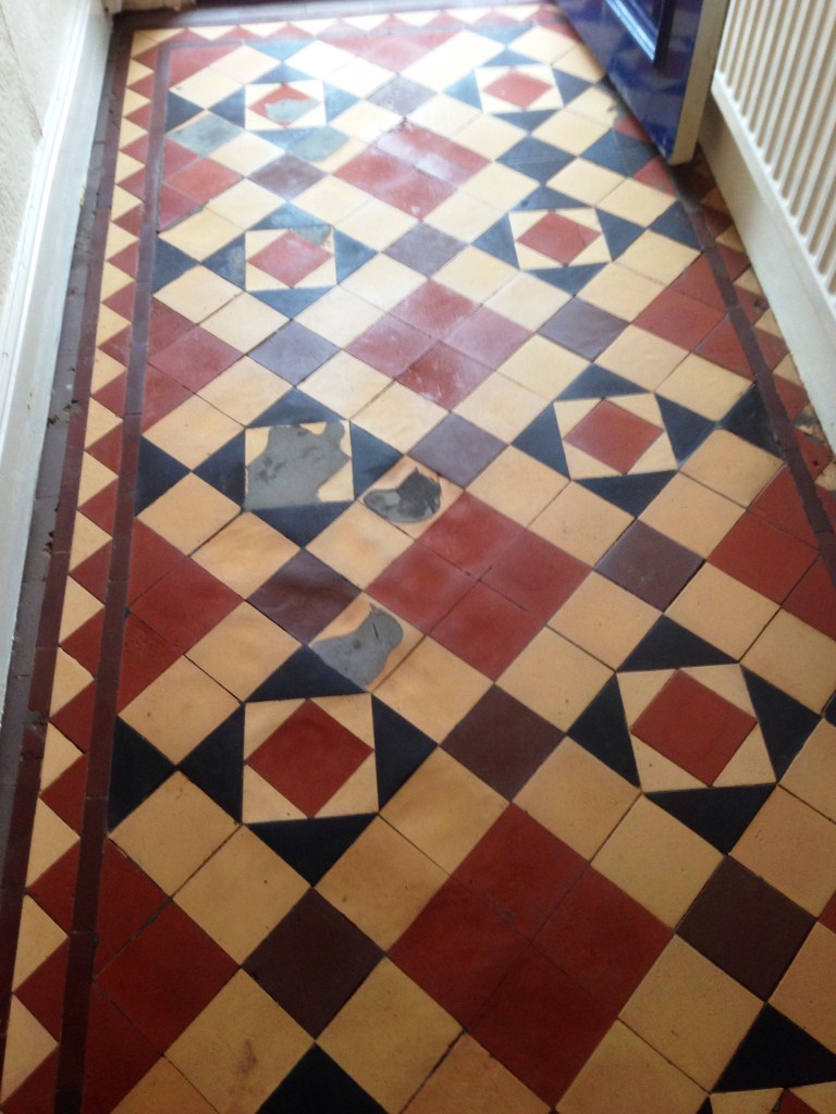 Victorian Floor Tiles After Restoration in Stratford upon Avon