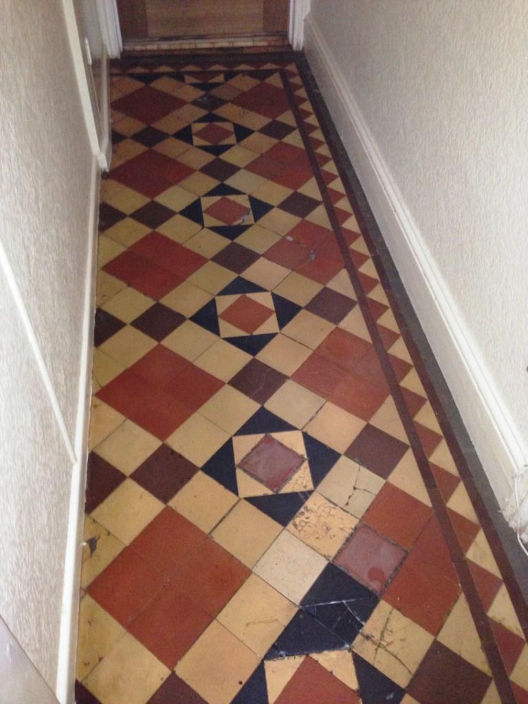 Victorian Floor Tiles After Restoration in Stratford upon Avon