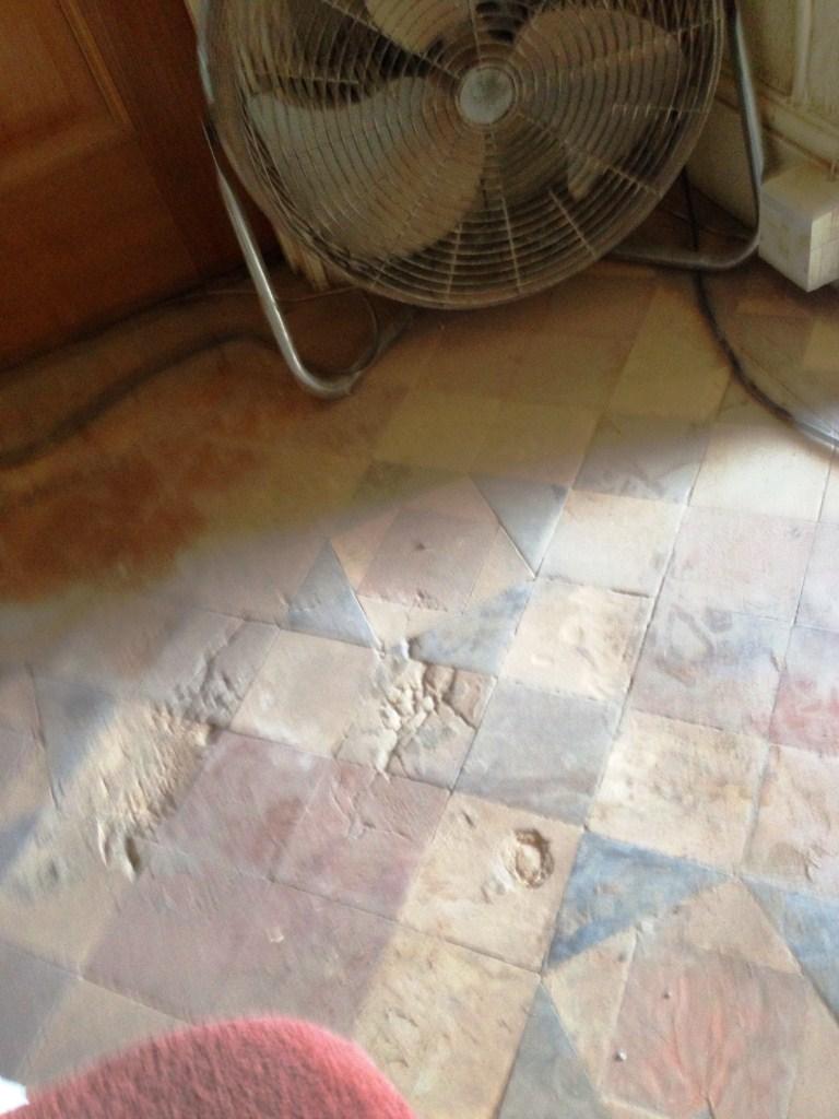 Victorian Floor Tiles Before Restoration in Stratford upon Avon