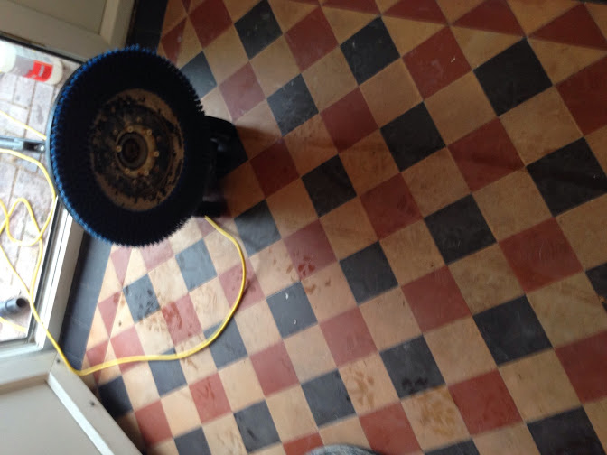 Victorian Tiles in Coundon before cleaning