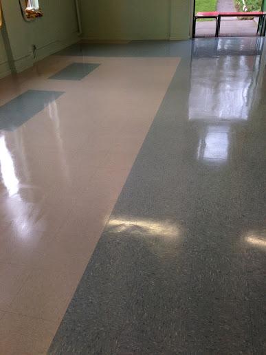Vinyl floor in Wyken after cleaning