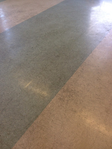 Vinyl floor in Wyken before cleaning