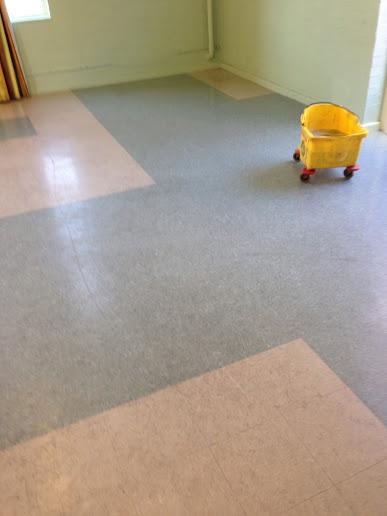 Vinyl floor in Wyken during cleaning