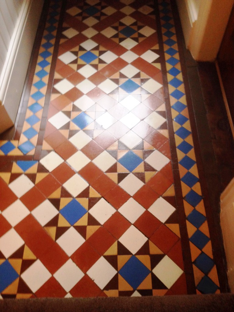 Victorian Minton tiles cleaned and Sealed coventry