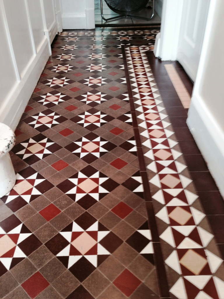 Victorian Tiled Hallway Coventry After Cleaning and Sealing