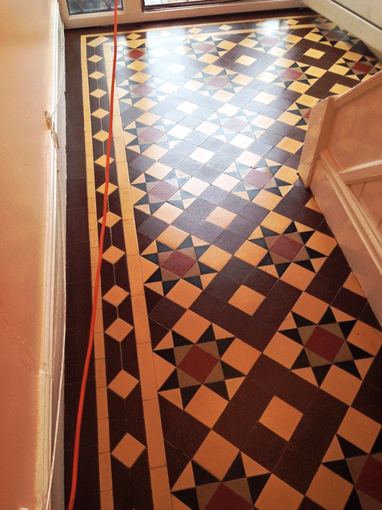 Victorian Tiled Floor Refresh Radford After