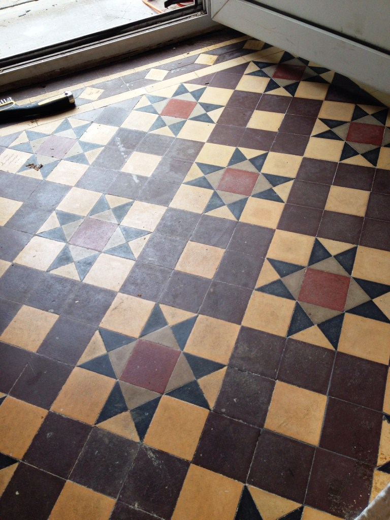 Removing glue from victorian floor tiles cleaning and victorian tiled floor refresh radford before dailygadgetfo Gallery