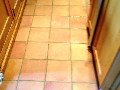 Dirty Terracotta Tiles Deep Cleaned in Warwick