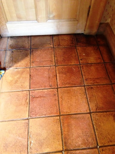 Terracotta Deep Clean Warwick before