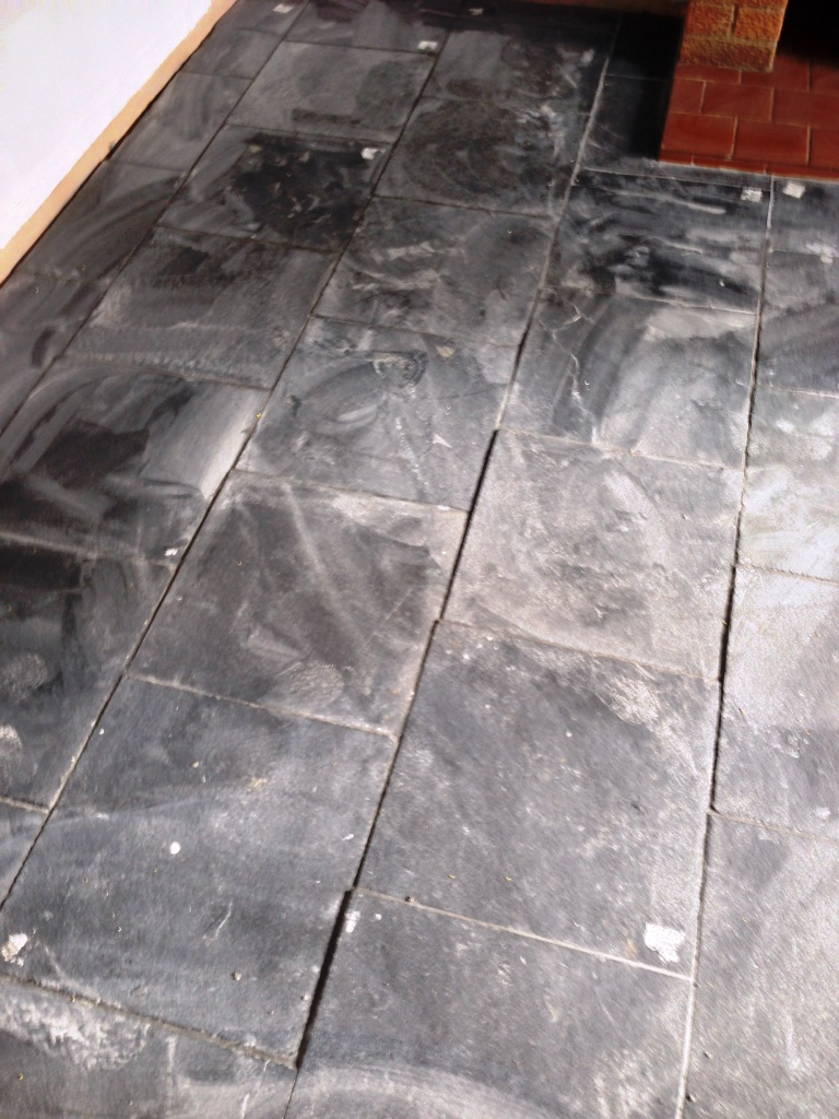 Tile cleaning warwickshire tile doctor black limestone before cleaning pillerton hersay dailygadgetfo Gallery