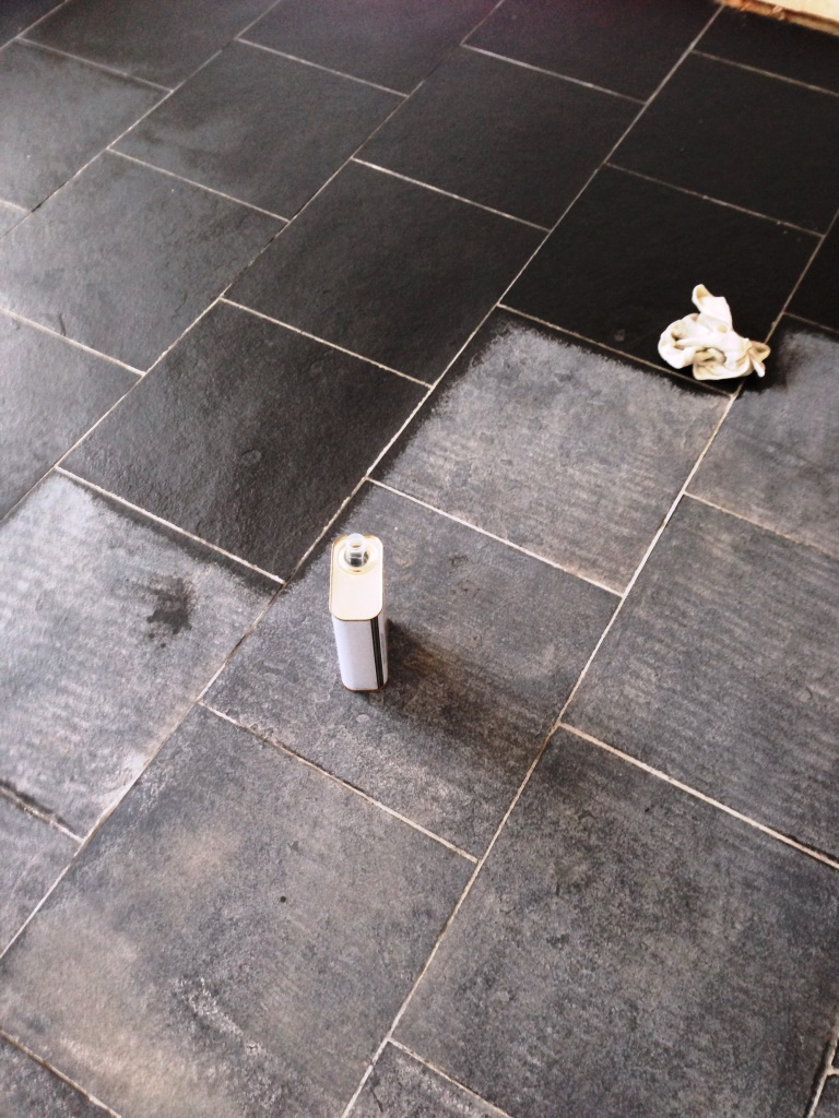 Tiled floor warwickshire tile doctor black limestone during cleaning pillerton hersay dailygadgetfo Gallery