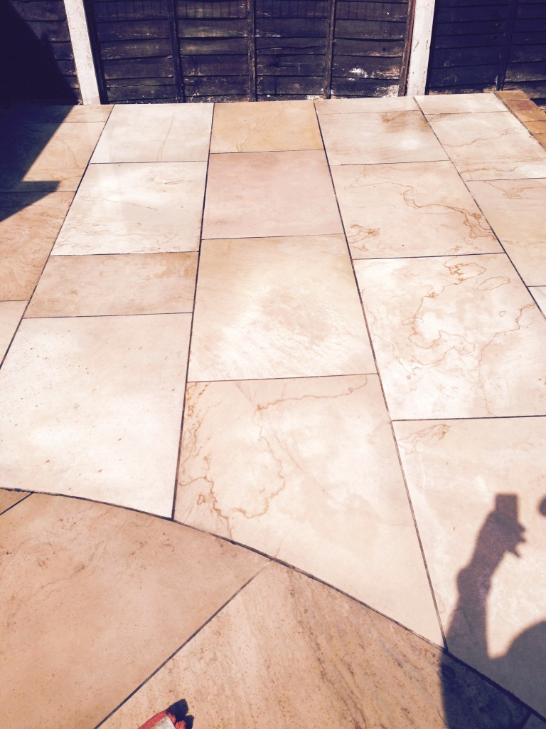 Limestone Patio After Cleaning Nuneaton