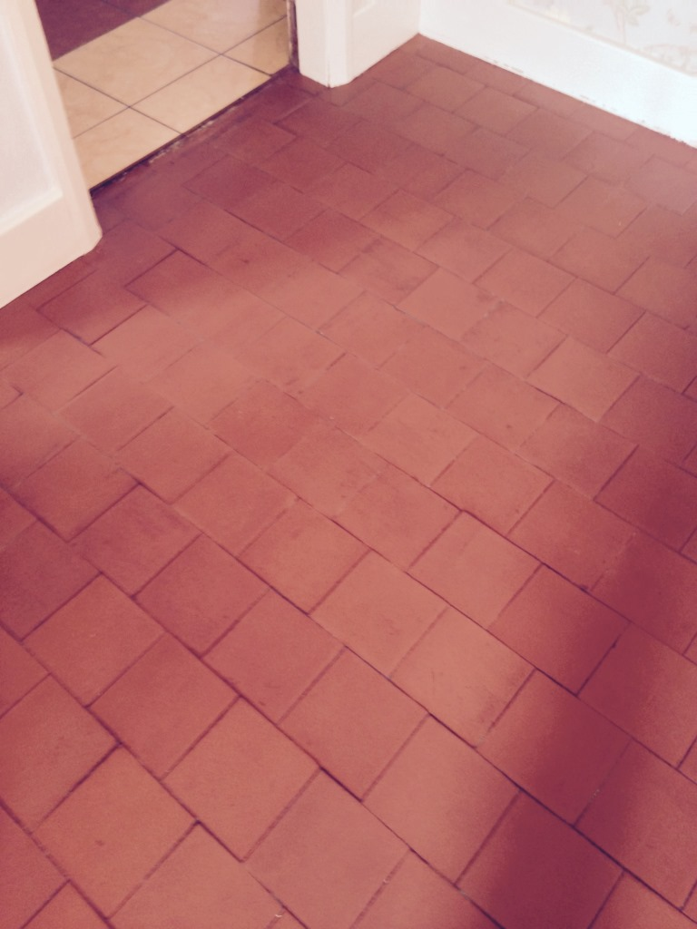 Quarry Tiled Floor After Restoration in Stratford-upon-Avon