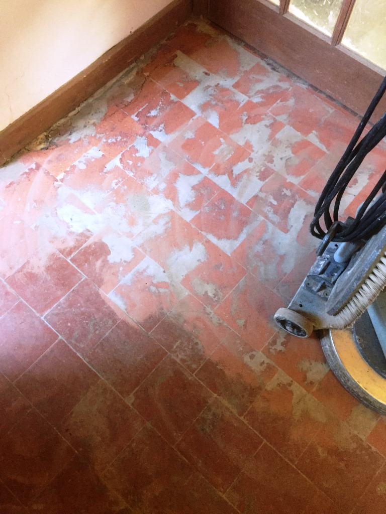 Removing glued vinyl from quarry tiles quarry tiled floors quarry tiles canley screed removed dailygadgetfo Choice Image