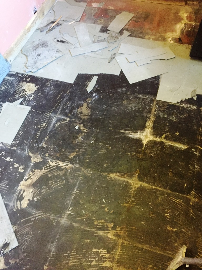 Quarry Tiles Covered in Screed - Canley