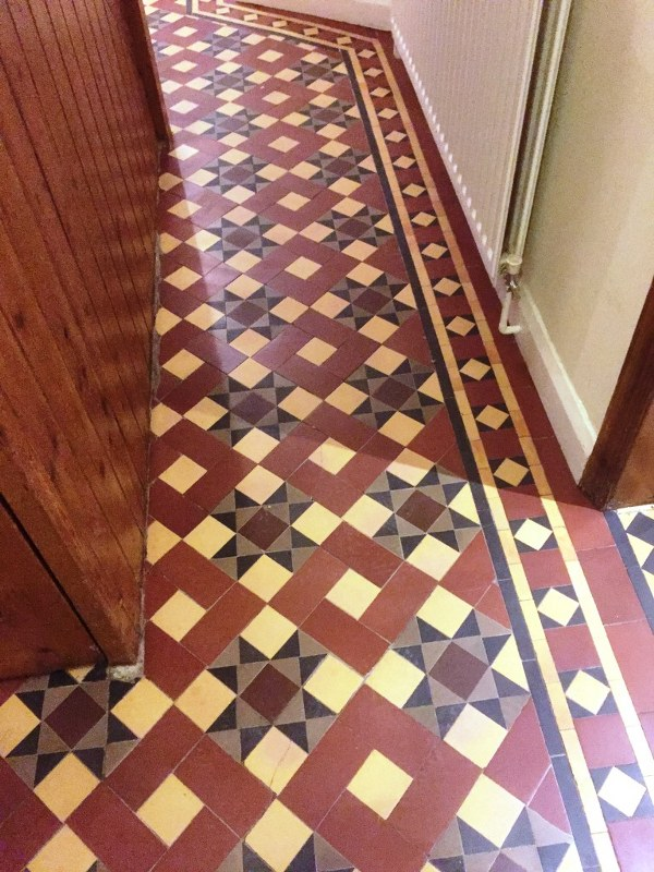 Victorian Tiled Floor After Restoration Earlsdon Coventry
