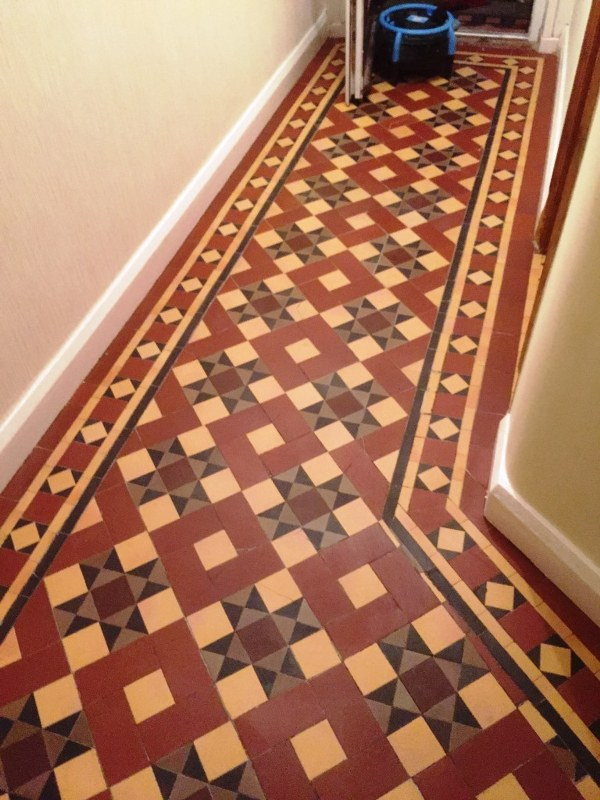 Victorian Tiled Floor After Restoration Earlsdon Coventry