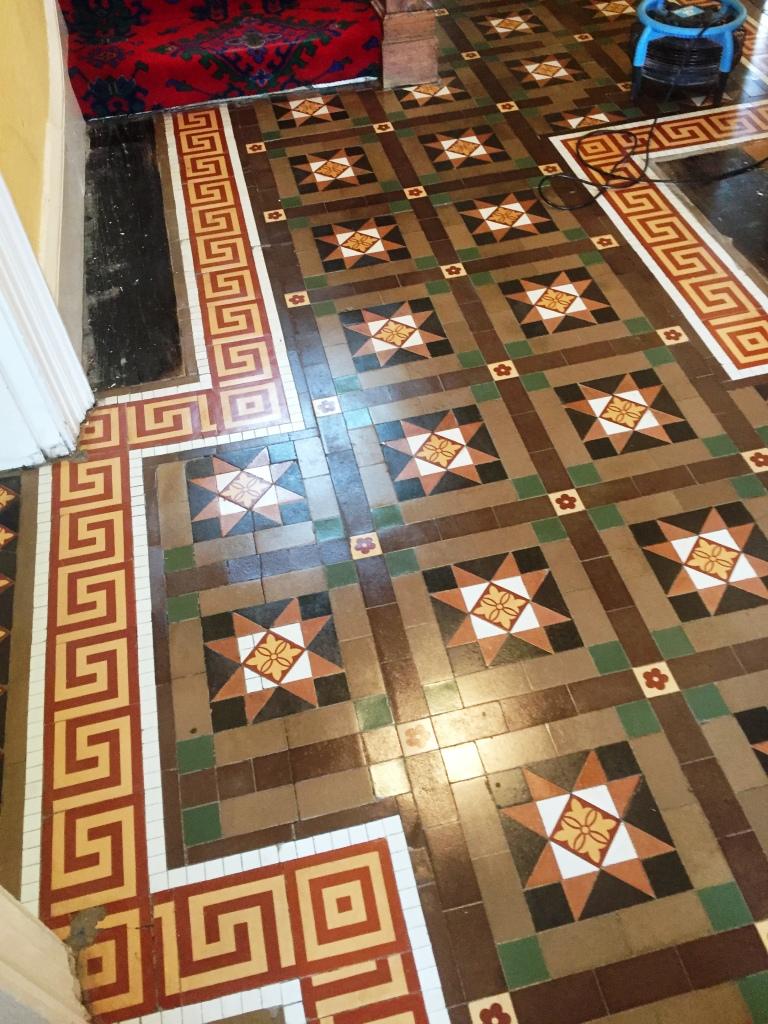 Victorian Tiled Floor After Rebuild Leamington Spa