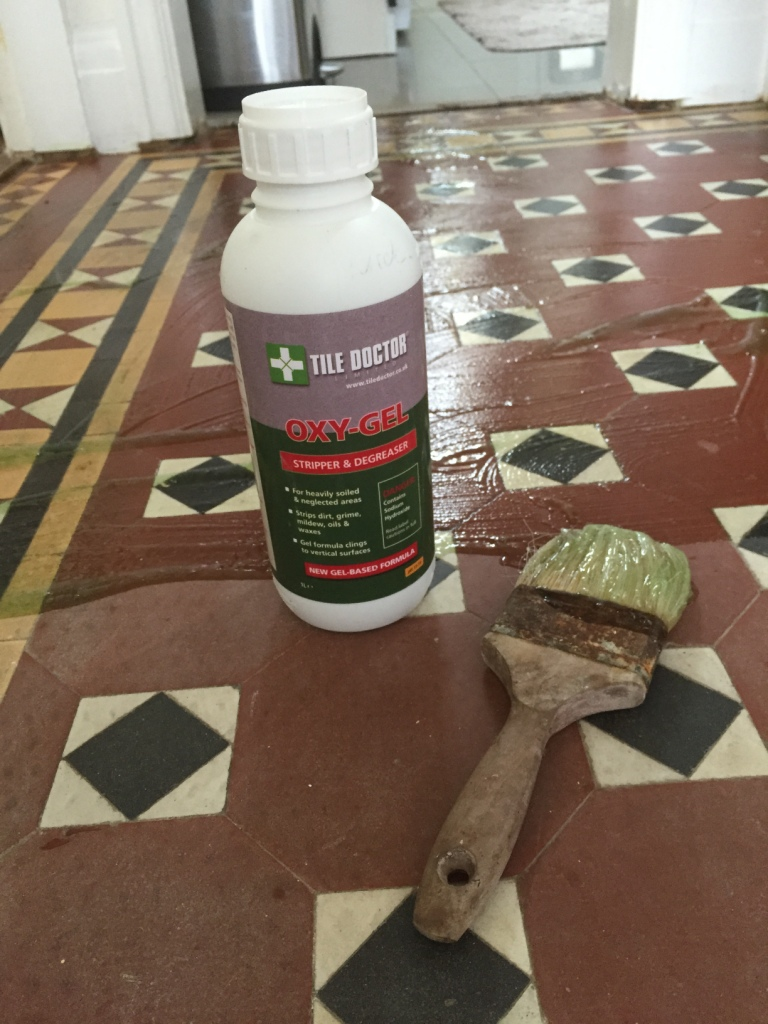 Beautiful Victorian Floor During Cleaning with Oxy Gel in Wyken